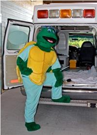 mascot-corner-fletch-in-scrubs