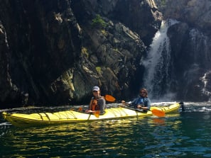tommy and demi kayaking