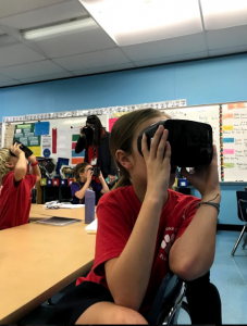 LMC's STEM-focused programming includes using hands-on, VR equipment to educate students on science-related topics.
