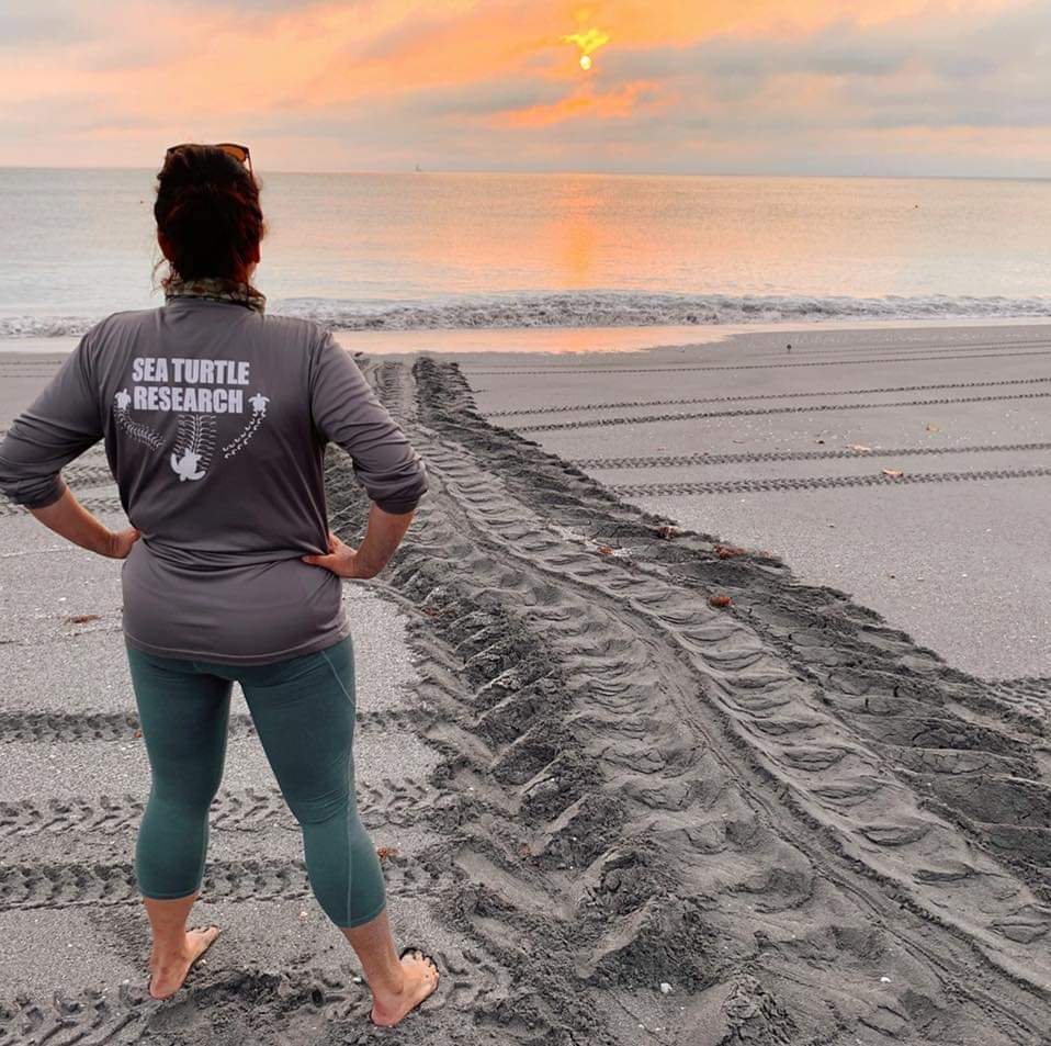 Research Operations Manager, Jen Reilly has an eye for visualizing leatherback tracks.