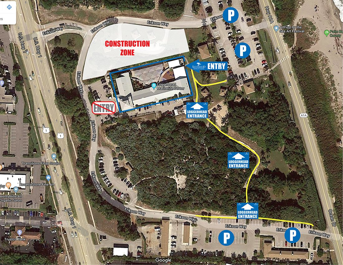 Loggerhead Park Parking Map May2020