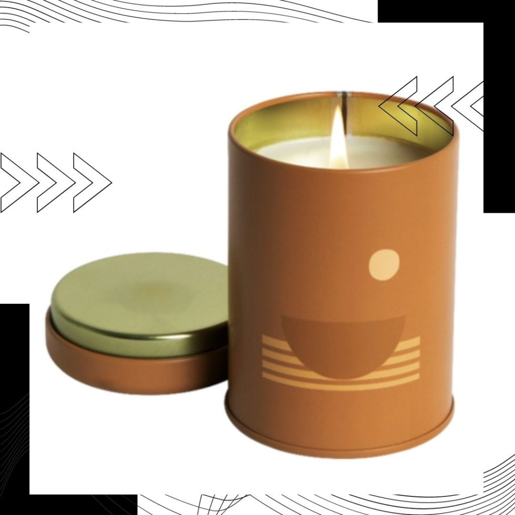 Sunset Swell Soy Candle's are made of 100 percent domestically-grown soy wax, fine fragrance oils, and cotton-core wicks.