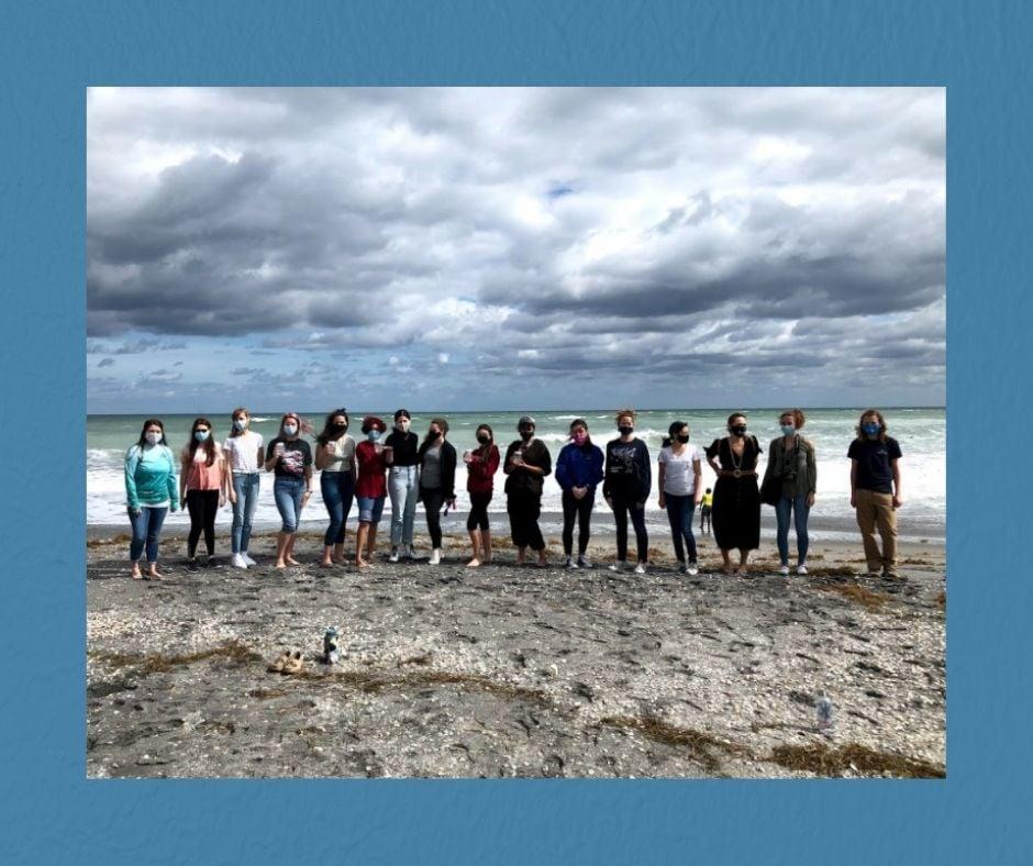 Florida Atlantic University High School Students investigated microplastics with Loggerhead Marinelife Center.
