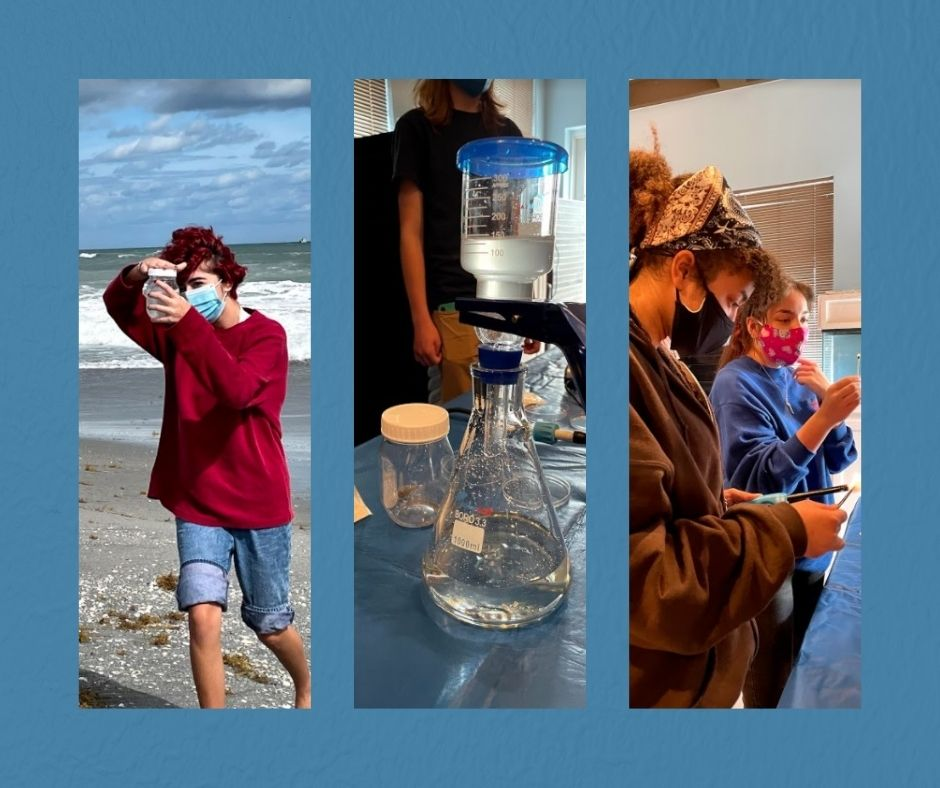 Florida Atlantic University High School Students collected and examined water samples to determine the presence of microplastics.