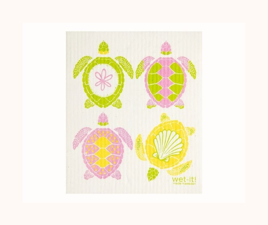 An eco-friendly selection, Swedish Dish Cloths are available for eco-minded customers to purchase on Loggerhead Marinelife Center's online store.