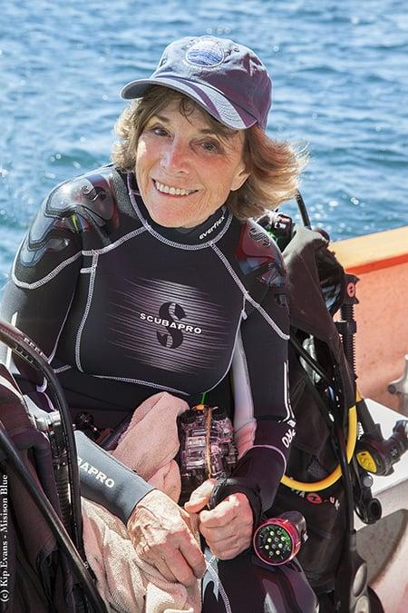 Sylvia Earle at Cabo Pulmo (c) Kip Evans Web